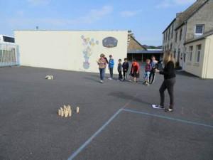 Atelier jeu de lancer (Molkky) avec Noéline